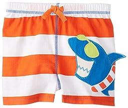 Mud Pie Baby Boy\'s Shark Swim Trunks (24M/2T, Multicolored)