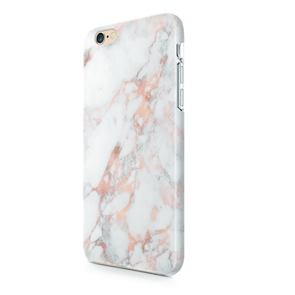 uCOLOR Rose Gold Marble Matt Case Compatible with iPhone 8 Compatible with iPhone 7/6S/6 Case for Girls Soft TPU Protective Case Compatible with ...