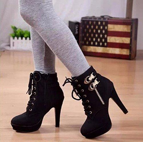 INCEPTION PRO INFINITE Mujer Zapatos de Plataforma negro Size: 40 EU = 39 ITALIANA
