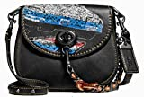 Coach Turnlock Saddle 17 In Glovetanned Leather with Car Embellishment F58392