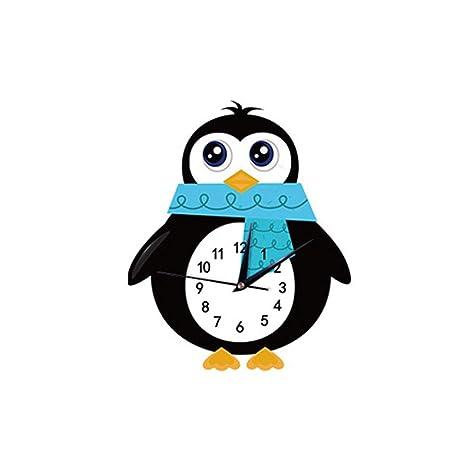 Reloj de pared, Reloj infantil Reloj de dibujos animados silencioso creativo Campana de pared de color ...