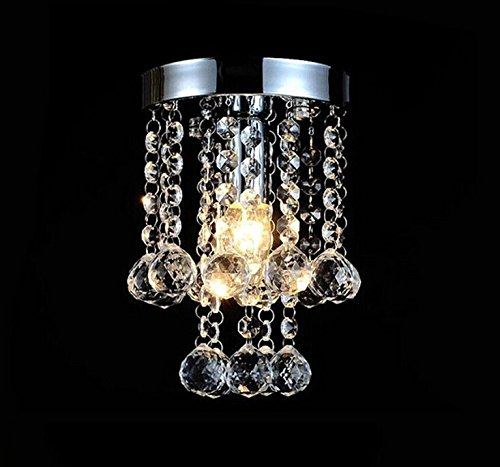 TomDa Mini Modern Luxury Crystal Chandeliers Pendant Lights Flush Mount Ceiling Light Lamp Chrome Fish