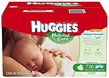 Huggies Natural Care Baby Wipes - Unscented - 736 ct by Huggies