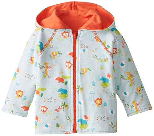 Blue Reversible Zip Hoody Sweatshirt - Zutano Unisex Baby Juba Reversible Zip Hoodie, Sky, 6 Months