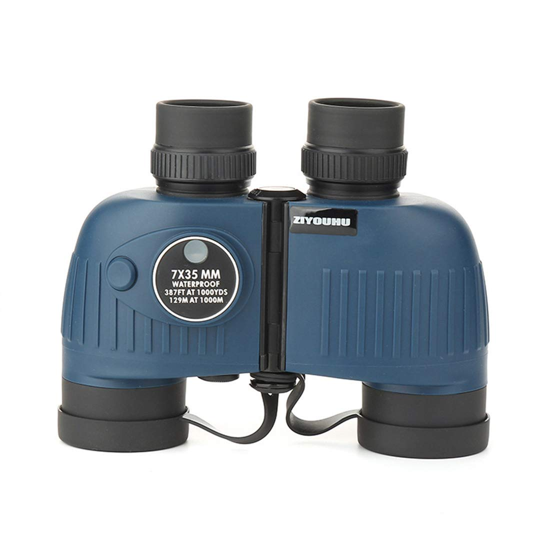 JULYFELICIA HD Binoculars 7X35 Waterproof and Shockproof With Compass Night Vision Viewing Glasses for Outdoor Use (Color : Black)