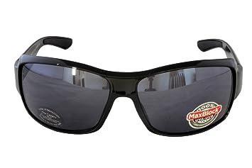 4288557681 Foster Grant FLAG SPORT FG87 Men s Rectangular Light Wrap Style Sunglasses  Black Plastic Frame Black Lenses
