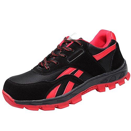 Chaussures De Sécurité Optimale Des Femmes Chaussures De Travail Comp Acier Orteils Chaussures B Noir