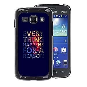 A-type Arte & diseño plástico duro Fundas Cover Cubre Hard Case Cover para Samsung Galaxy Ace 3 (Poster Wallpaper Deep Quote)