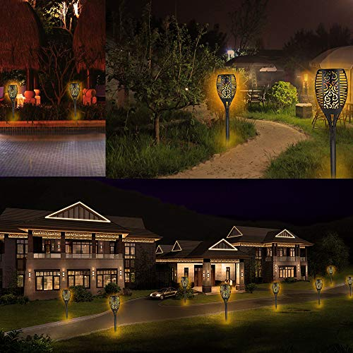 Solar Torch Lights,Waterproof Flickering Flame Torch Lights Outdoor Solar Spotlights Landscape Decoration Lighting Dusk to Dawn Security Path Light for Garden Patio Deck Yard Driveway (4 Pack) by Larkin (Image #6)