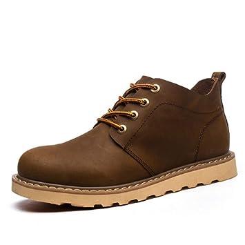 FMWLST Botas Zapatos para Hombre Botas De Invierno Botines De PU Botines Negros para Hombre Desert: Amazon.es: Deportes y aire libre