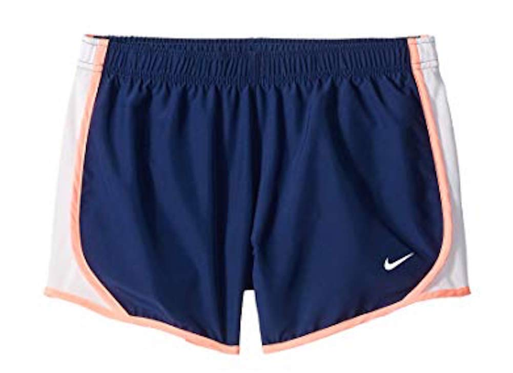 Nike Girl's Dry Tempo Running Short Blue Void/White/Lava Glow/White Size X-Large by Nike