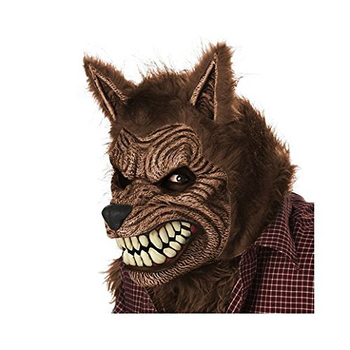 [Costume Beautiful Animotion Brown Werewolf Mask] (Beautiful Witch Costumes)