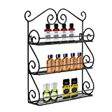 Decorative Wall Mounted 3 Tier Wall Hanging Essential Oils Organizer Nail Polish Holder Kitchen Spice Rack