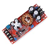 Alloet 1200W DC-DC Boost Power Converter Adjustable Step Up Voltage Regulator Board Input Voltage 8-60V Max Output Voltage 12-80V with Large Heat Sink Design