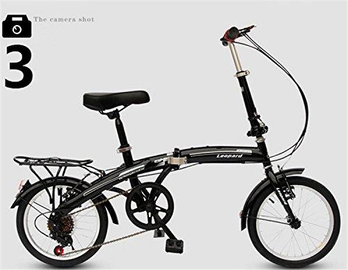 折りたたみ自転車 16インチ マウンテンバイク MTB おりたたみ自転車 折畳自転車W468 B00QA16I4A ブラック ブラック