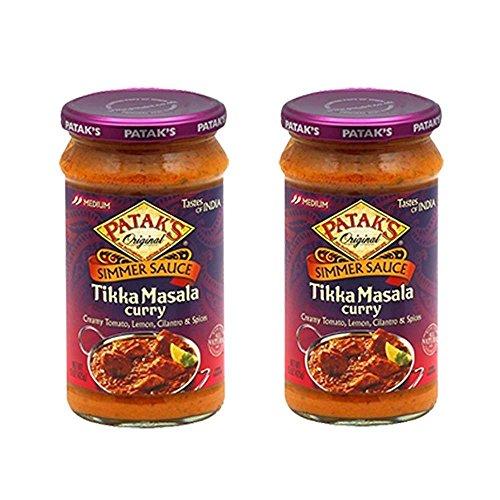 Pataks 2-15 Oz Origial Simmer Sauce Tikka Masala Curry, 30 (Pataks Curry Sauce)