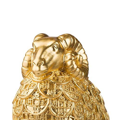 brassmaster fortuna Golden ovejas Estatua Artware Furnishing artículos adorno artesanal decoración de hogar rico oveja decoración accesorios con estilo de ...