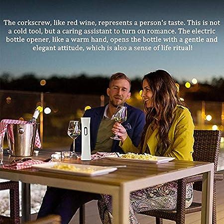Sacacorchos eléctrico recargable Sacacorchos de vino automático Sacacorchos de vino no puede dejar de enchufar escoria sin esfuerzo y práctico cortador de estaño integrado