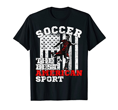 - USA American Flag Soccer The Best American Sport T-shirt