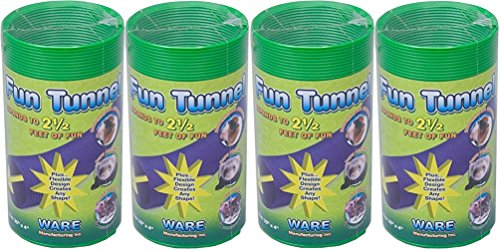 (4 Pack) Ware Fun Tunnels, 30-Inch by 4-Inch, Medium