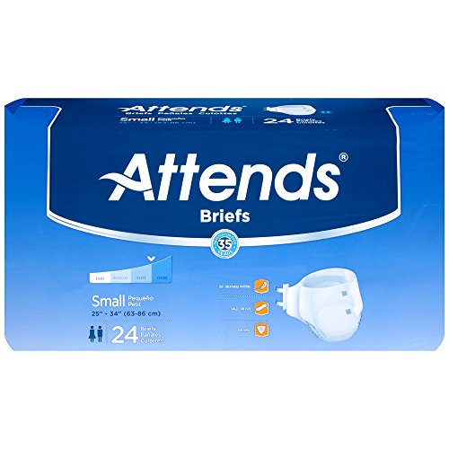 Attends BRBX15 Extra Absorbent Breathable Briefs-Small-96/Case, Multicolor Attends Breathable Extra Absorbent