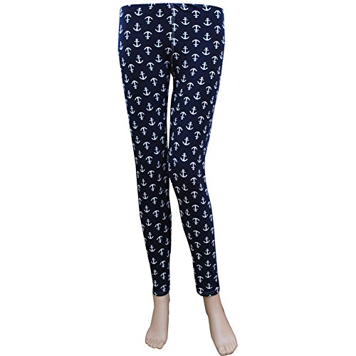 anchor-print-ngil-womens-leggings-one-size-stretch
