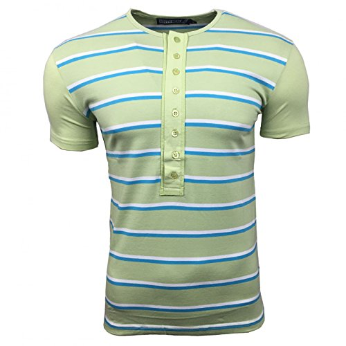 Rusty Neal T-Shirt Herren Shirts Grün S M L XL XXL gestreift kurzarm rundhals, Größe:XL, Farbe:Grün