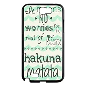SamSung Galaxy Note2 7100 cell phone cases Black Hakuna Matata fashion phone cases YEH0721781