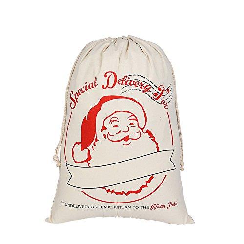 avec Grande Capacité Cadeaux Pochette pour Noël blanc Corde 13 Unisex Sac Ymysfit TWO7an8Tg