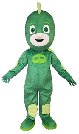 Aris pj mask Mascot pj Masks Costumes Gecko Costume Gekko Dress Cartoon Mascots