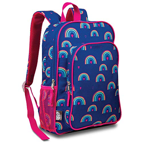LONECONE Kids' Preschool and Kindergarten Backpack for Boys and Girls, Hearts and Rainbows