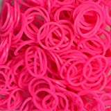 600 Count Neon Pink Rainbow Loom 24 Clips Included