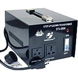 Goldsource STU-2000 Step Up/Down Voltage Transformer Converter - AC 110/220 V - 2000 Watt