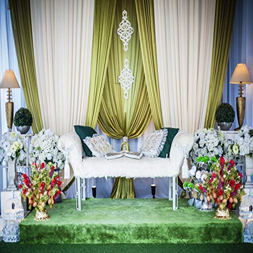 (Baocicco 6x6ft Wedding Backdrop Elegant Curtains Floral Decorations Retro Desk Lamps Luxurious Sofa Wedding Pedestal Background Wedding Ceremony Girl's Female's Birthday Portrait Studio)