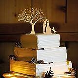 Rustic Wedding Cake Topper - Couple and Dog -WA1014