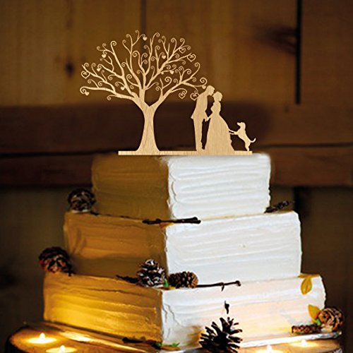 Rustic Wedding Cake Topper WA1014 product image