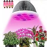 LEDMO Led Grow light Bulb, 24W Plant light bulb for Hydroponics Garden Seeding Greenhouse Organic , E27 Base
