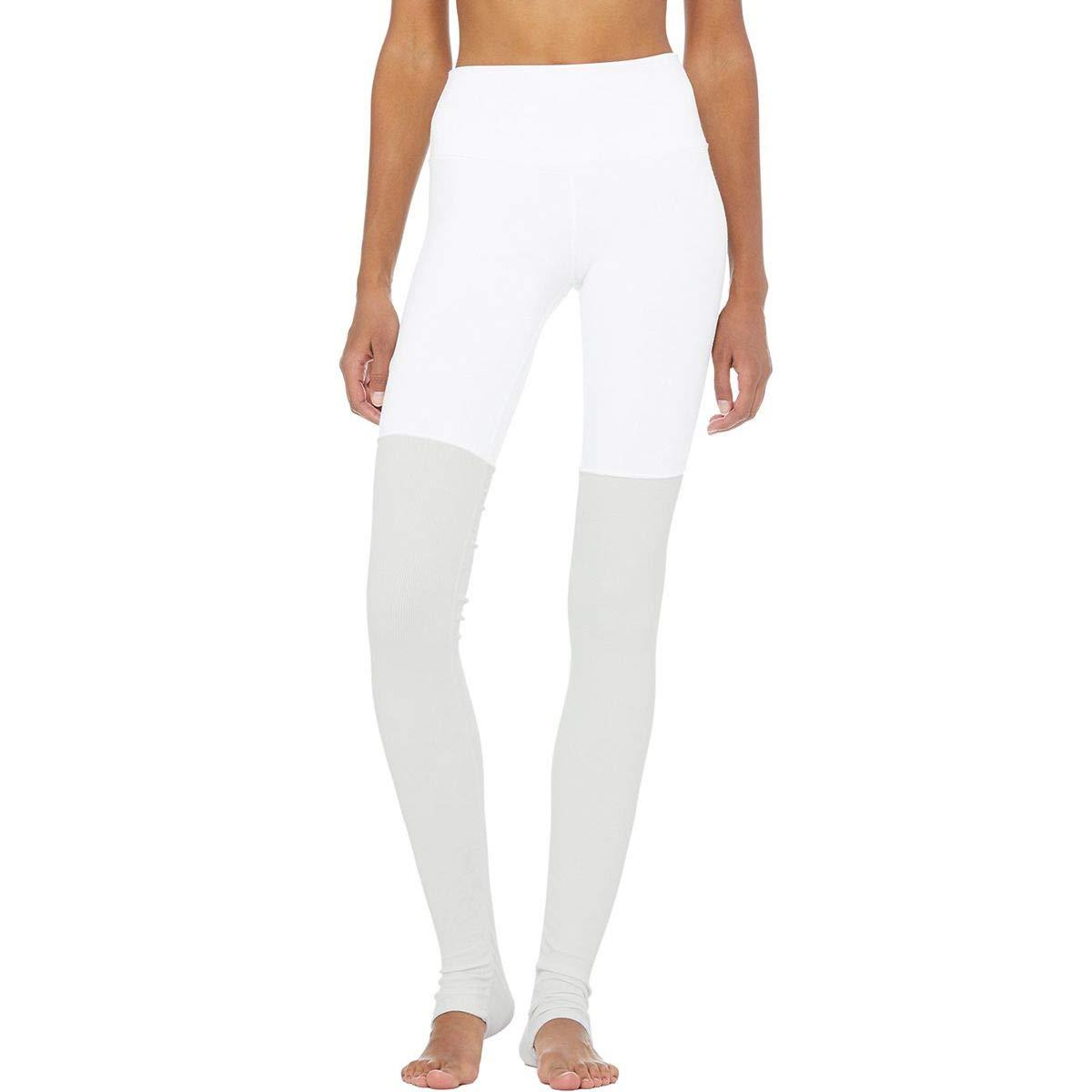 Alo Yoga High-Waist Goddess Legging - Women's White/Dove Grey Heather, XS by Alo Yoga (Image #1)