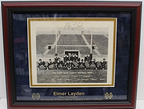 Dame Notre Horsemen Four (Elmer Layden Sign Autographed 8x10 Photo Four Horsemen of Notre Dame JSA Y96782)