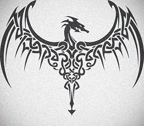 (Wide Wing Celtic Knot Dragon Stencil Gothic Dragons Wall Painting)
