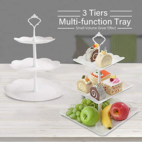 Cherry Blossoms 3 Tier Cake Stand/Cupcake Stand/Dessert Stand/Tea Party Buffet Pastry Serving Platter/Food Display Stand