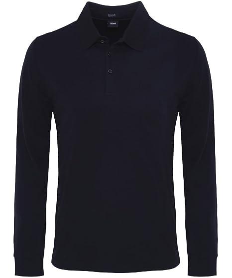 b4ae6f29d BOSS Hugo Boss Long Sleeve Phillian Polo Shirt Black: Amazon.ca: Clothing &  Accessories