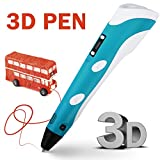 Motoraux Intellgent 3D Printer Pen of 2015 Newest Version with LCD Screen, 3D Drawing Pen with 3 X 3m ABS Filament for Free (blue)