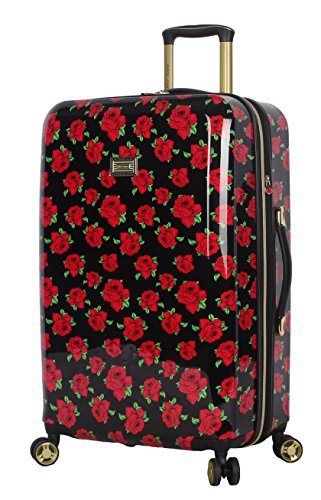 """BETSEY JOHNSON Covered Rosed 26"""" Hardside Checked Spinner Luggage (Covered"""