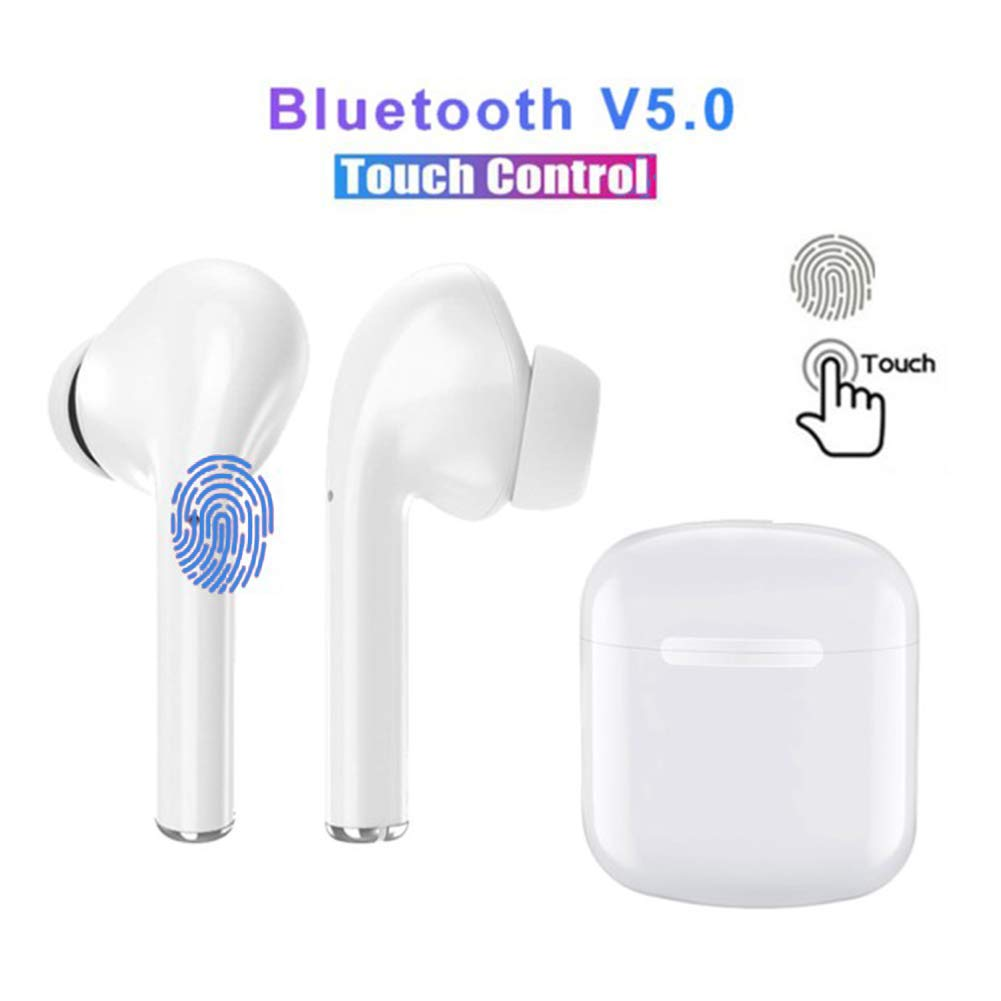 Bluetooth Headset 5.0 in-Ear Wireless Earbuds High-Fidelity Stereo Waterproof Sports Headphones Built-in HD Mic with Charging Box and Fast Pairing Compatible with iPhone Airpods Android Samsung S10