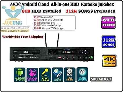 Pantalla táctil de escritorio todo en uno, reproductor de karaoke, descarga en nube gratuita 2000 G ...