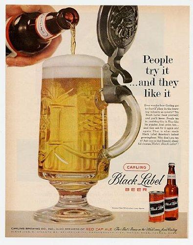 1960-carling-black-label-beer-stein-original-print-ad-4474