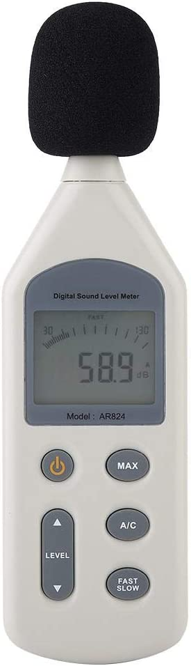 digital dB Schallpegelmesser AR824 tragbar Ger/äuschpegelmesser Smart-Sensor Schallpegelmessger/ät
