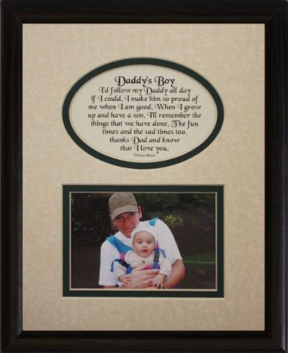 8x10 DADDY'S BOY Picture & Poetry Photo Gift Frame ~ Crea...