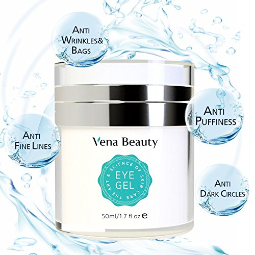 Eye Gel for Dark Circles, Puffiness, Wrinkles and Bags,Fine Lines. - The Most Effective Anti-Aging Eye Gel for Under and Around Eyes - 50 (Eye Puffiness Dark Circles)